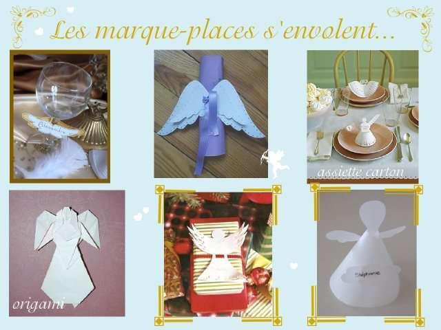 Mariage theme anges idees - Modele de marque place a faire soi meme ...
