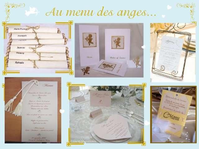 Mariage theme anges plein d 39 idees for Idee de menu original