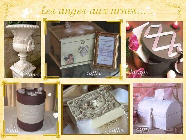 Mariage theme anges plein d 39 idees - Decoration boite en bois ...