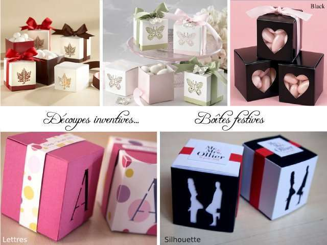 boite dragees cube