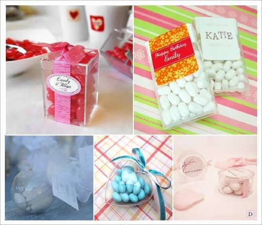 Box pouches and other containers dragees wedding and - Boite acrylique transparente ...