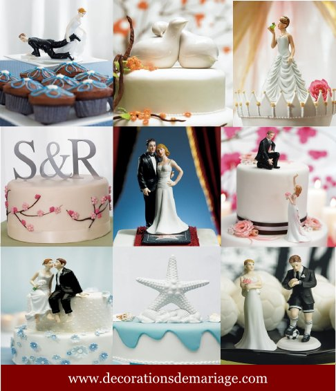 figurines gâteau mariage pièce montée