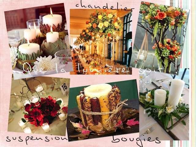 Centre de table mariage des id es d co for Centre de table lumineux