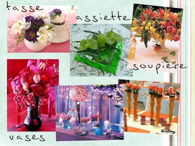 Decoration florale pour mariage faire soi meme - Composition florale centre de table pas cher ...
