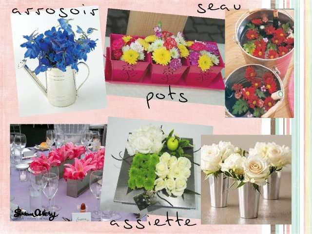 Decoration florale pour mariage faire soi meme for Composition florale table