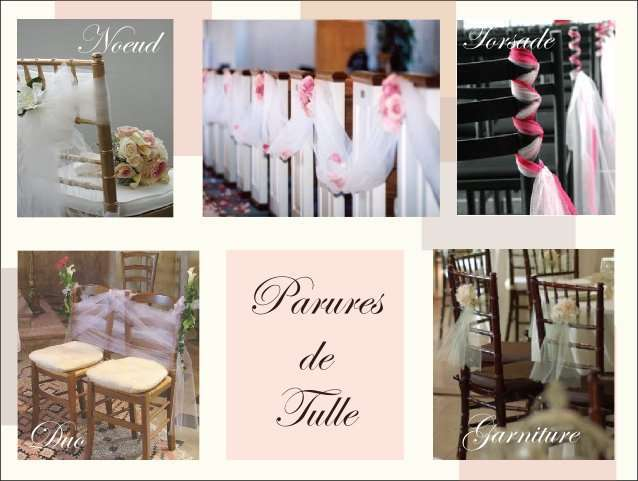 Decoration Chaise Mariage Tulle Noeud