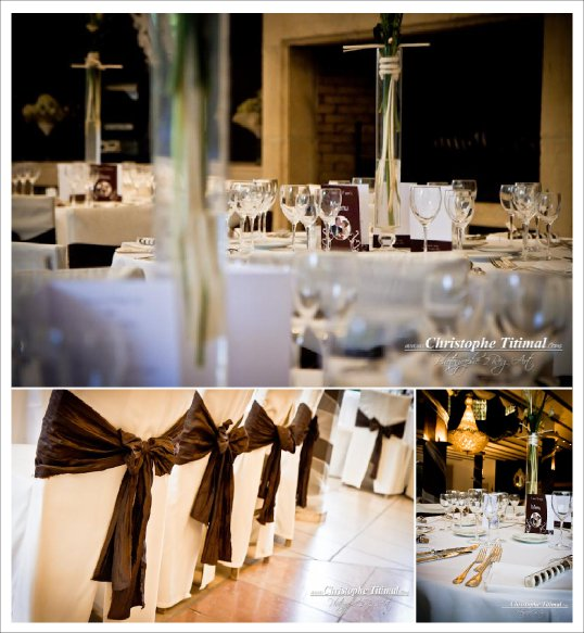 decoration mariage chocolat or blanc