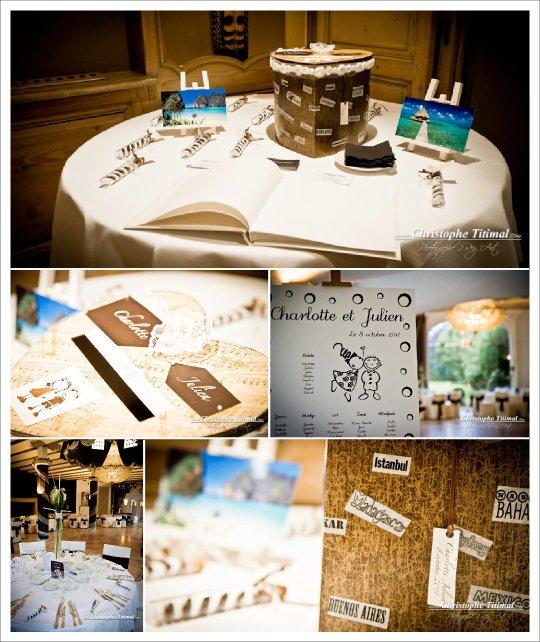 Vrai mariage chocolat or blanc for Decoration voyage autour du monde