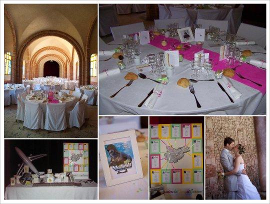 decoration_mariage_pigeonnier_fuchsia_jaune