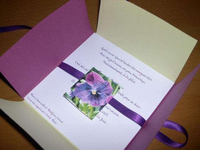 réalisation  invitation mariage thème nature champêtre semencier explication  graines