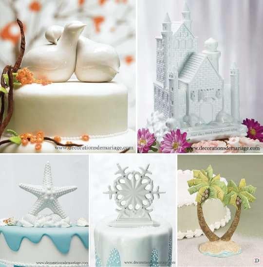 figurine_mariage_piece_montee_gateau_oiseau_etoile_de_mer_flocon_palmier_chateau