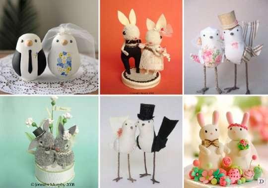 figurine_mariage_piece_montee_enfantine_animaux_oiseau_lapin