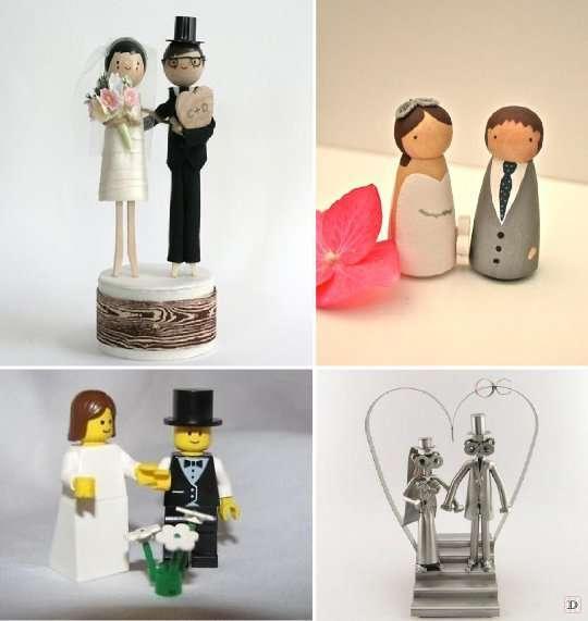 figurine mariage_gateau_lego_bois