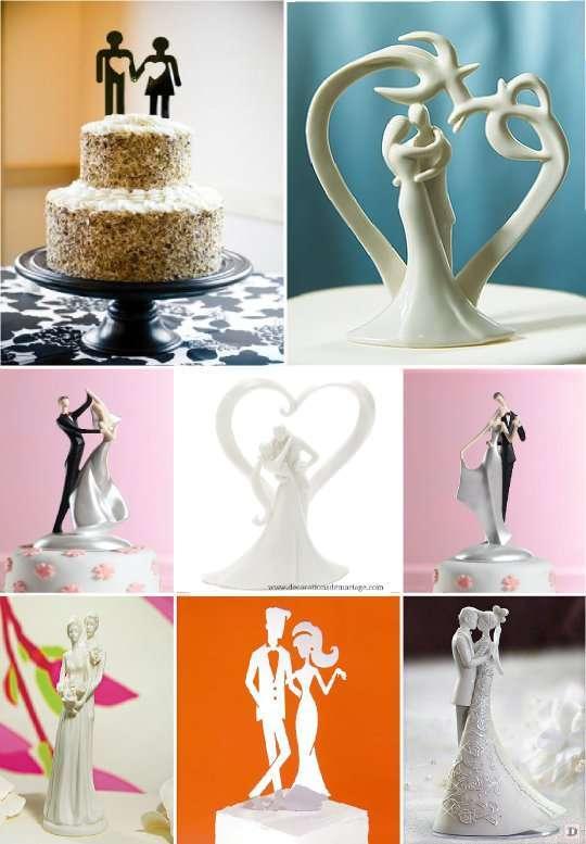 figurine_mariage_gateau_piece_montee_stylise_moderne_design - Personnage Gateau Mariage Humoristique