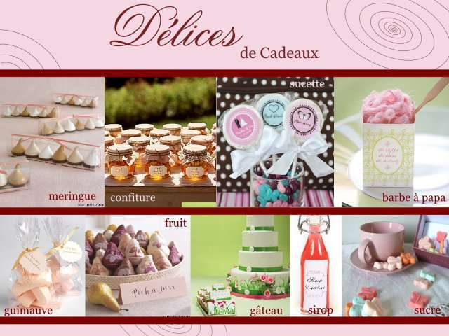 cadeaux invites mariage gourmand