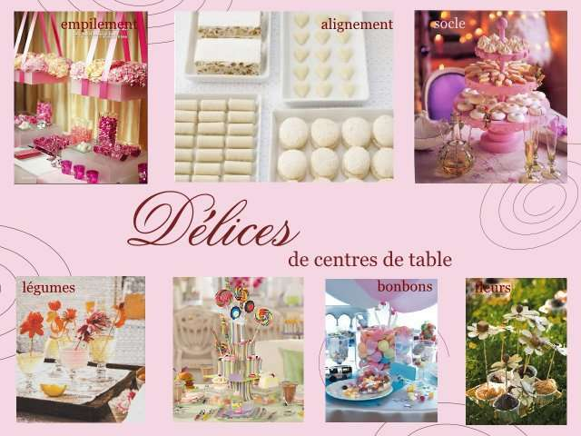 Theme mariage gourmandise for Decoration table gourmandise