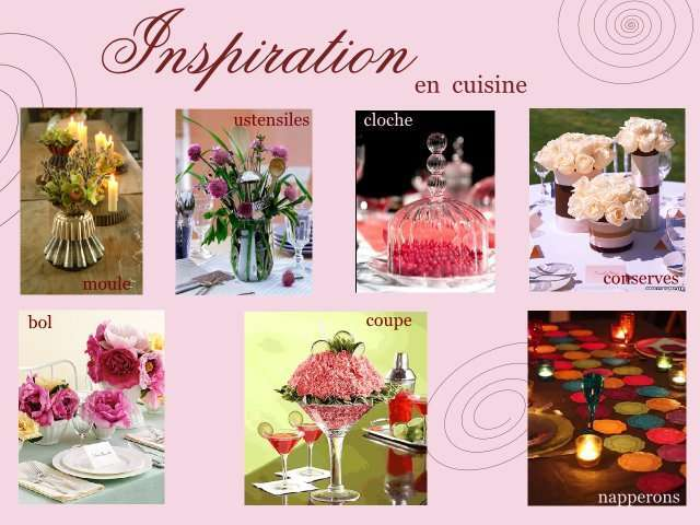 mariage gourmandise decoration table ustensile cuisine
