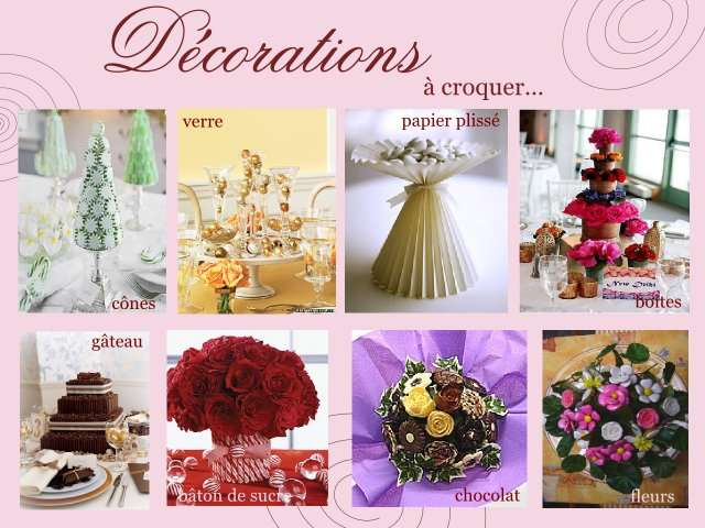mariage decoration table gourmandise bouquet bonbons
