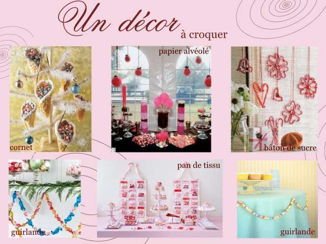 Theme mariage gourmandise for Decoration theme gourmandise