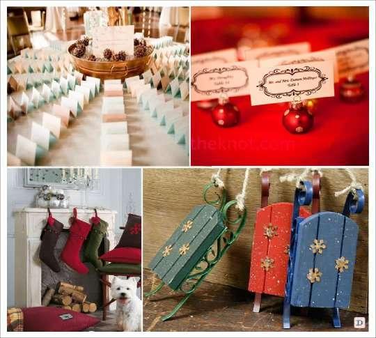 Deco mariage theme hiver idees - Plan de table noel ...