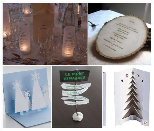 Souvent deco mariage theme hiver idees NP53