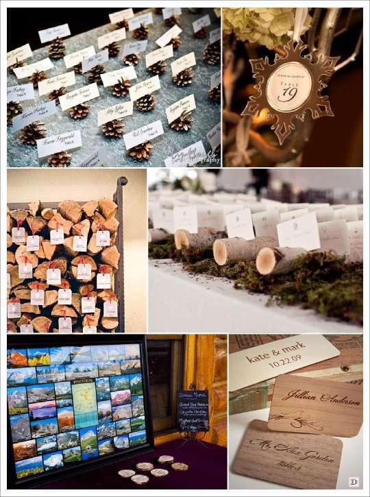Deco mariage theme hiver idees for Plan table bois