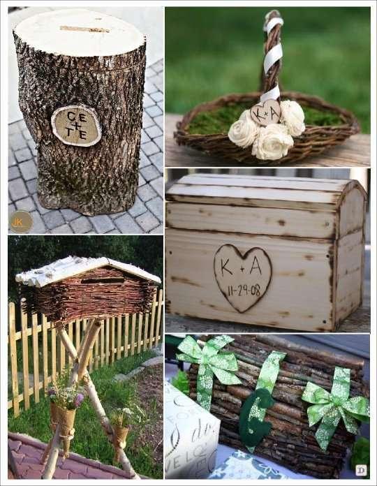 Deco mariage theme hiver idees for Tronc d arbre pour decoration