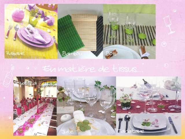 Linge et decoration de table - Faire un chemin de table ...
