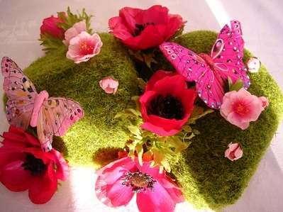 Mariage theme marais jardin aquatique Mousse vegetale deco idees