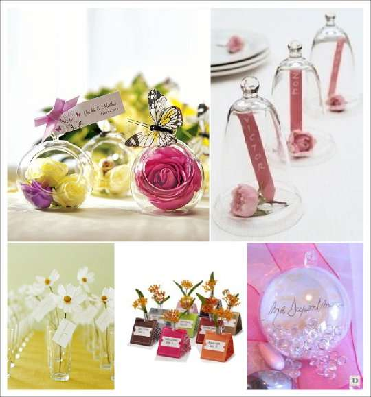 Marque place mariage faites le plein d 39 ides - Vase en plastique pour centre de table ...