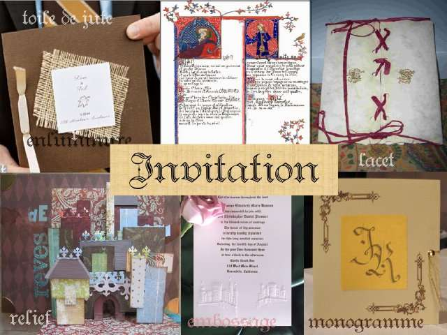 Souvent Deco mariage theme medieval idees AW26