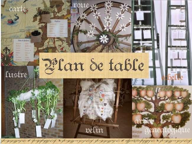 Décoration mariage idées thème médieval plan de table roue de