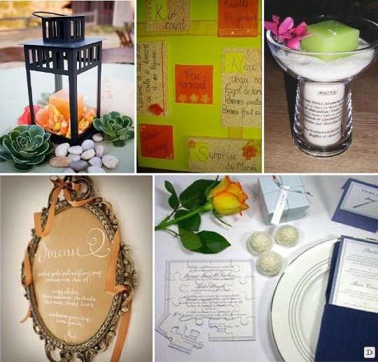ideas for wedding menu presentations wedding and decoration. Black Bedroom Furniture Sets. Home Design Ideas