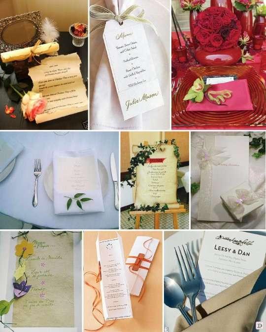 Menu mariage faites le plein d 39 id es - Confectionner des rideaux originaux ...