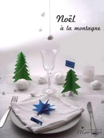 D Coration De Table Noel D Ner La Montagne D Coration De F Te