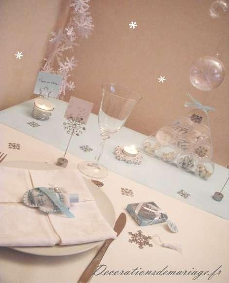 decoration de table de noel