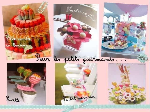 Decoration table enfant mariage decormariagetrnds - Centre de table en bonbon pour mariage ...