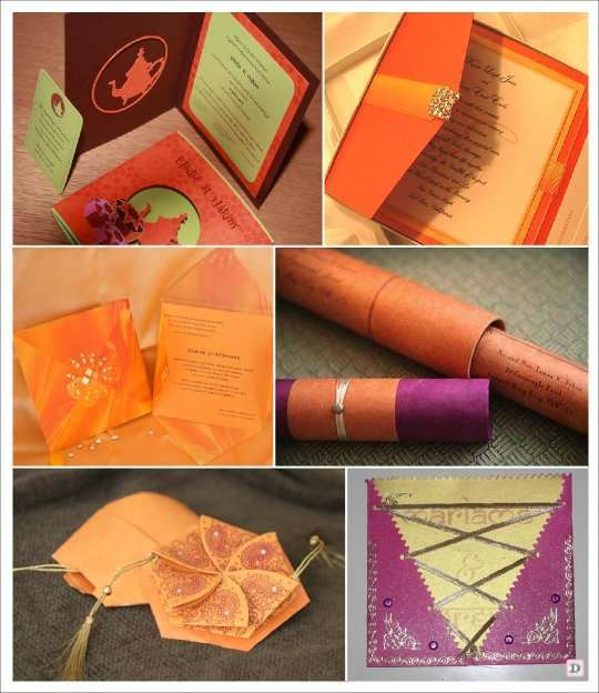 faire part mariage oriental rouleau pochette hexagonale lacage - Decoration Mariage Oriental Pas Cher