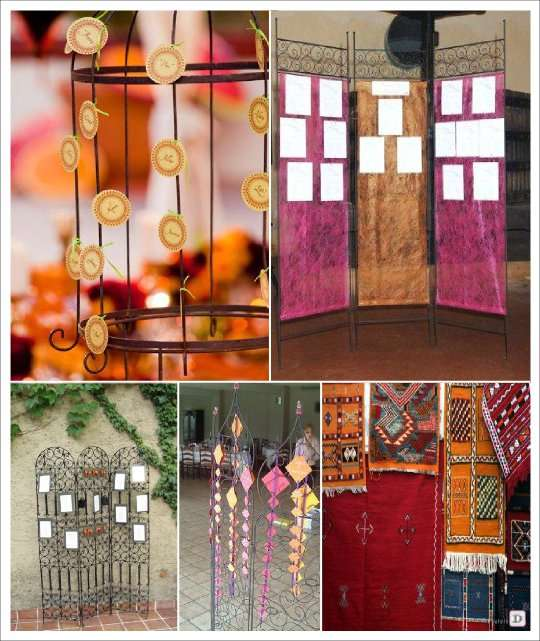 Decoration Orientale Fer Forge : Mariage theme oriental idees deco