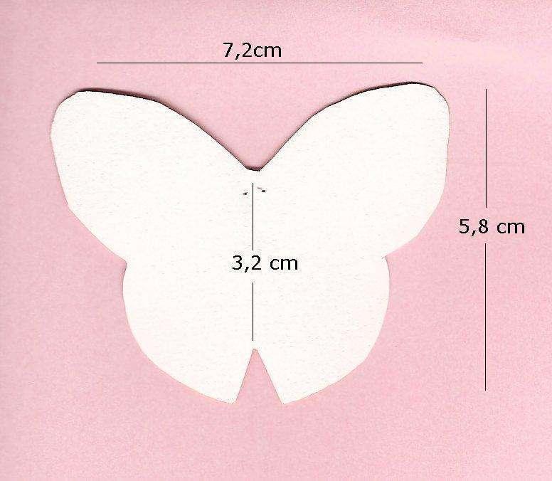 Diy marque place fleur en tissu r aliser - Modele papillon ...