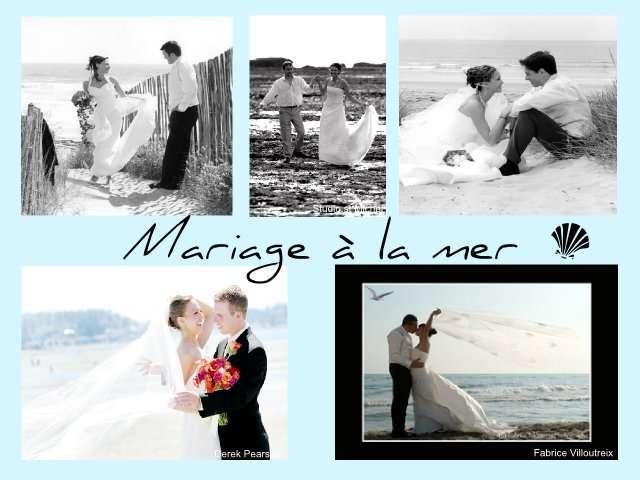idées photo de mariage couple lamer plage sable