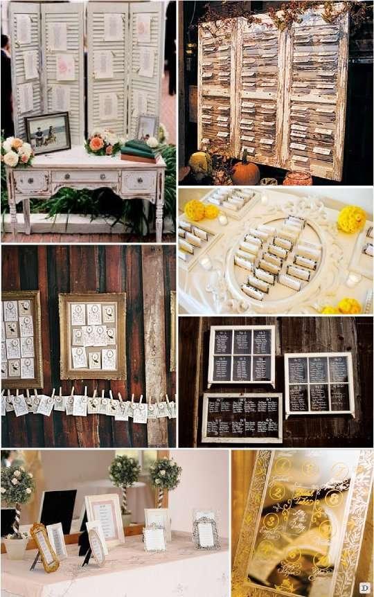 Id e plan de table mariage - Support pour plan de table ...