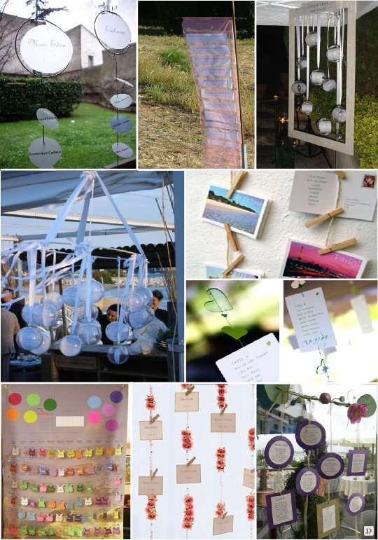 plan de table mariage 1001 id es voir. Black Bedroom Furniture Sets. Home Design Ideas
