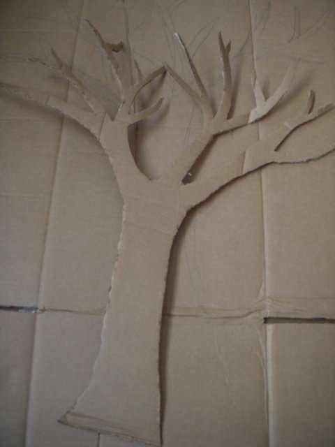 tutoriel arbre voeux en carton. Black Bedroom Furniture Sets. Home Design Ideas
