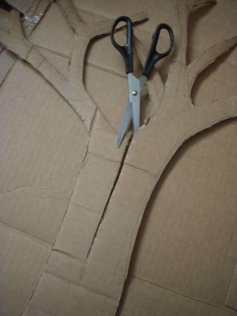 arbre en carton mariage faire soi m me centre de table tutoriel pictures. Black Bedroom Furniture Sets. Home Design Ideas