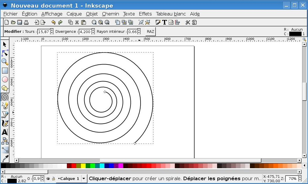 realisation tutoriel mode d'emploi fiche technique mettre texte en spirale sous inkscape