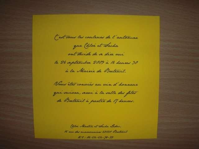 realisation faire part invitation automne tutoriel loisirs créatifs bricolage