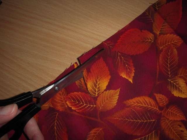 realisation faire part invitation automne carte en tissu feuilles