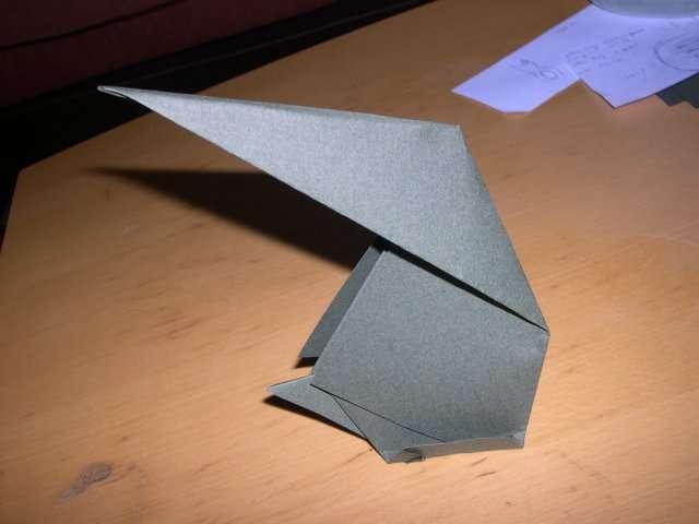 réalisation marque place  lapin lièvre  pâques explication fiche technique  pliage origami