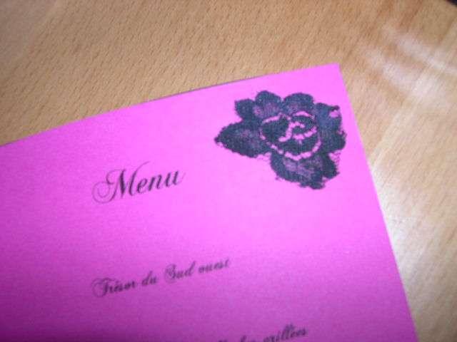 réalisation  menu mariage baroque loisirs créatifs bricolage faire soi même dentelle